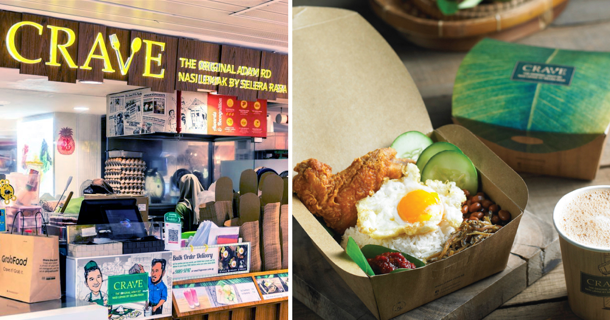 CRAVE offers buddy meal, 2 nasi lemak at S$10