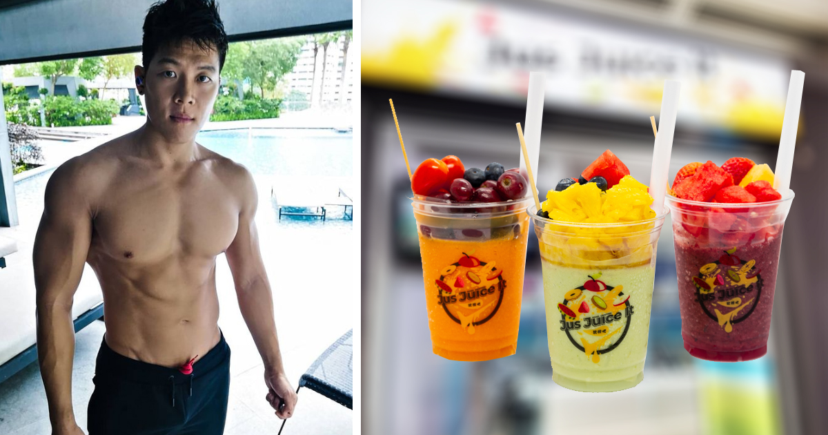 """Hawker Hunk"" opens new fruit juice stall at V Hotel Lavender, giving free fruit juice"