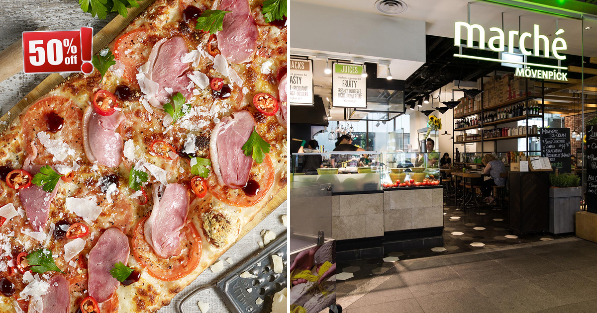 Marché Raffles City & JEM Offers Half Price promo on all pizzas on Mon & Tues 6pm onwards