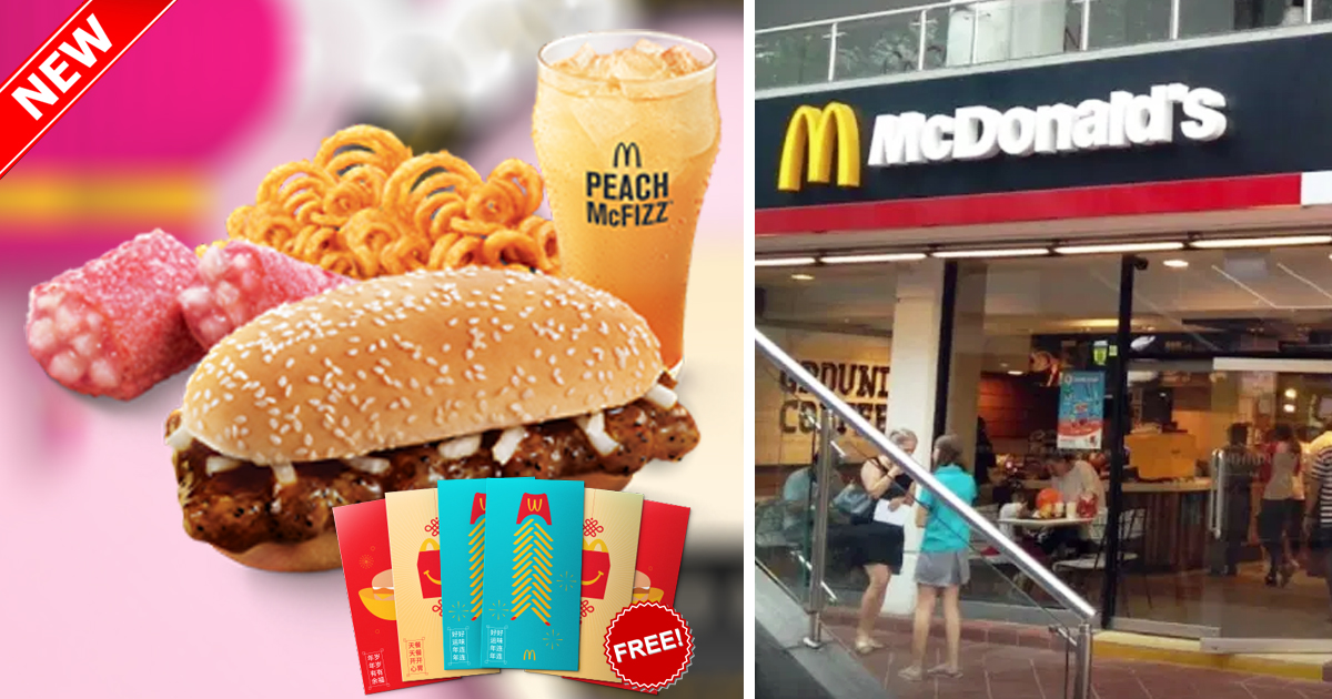 McDonald's Singapore brings back signature Prosperity Burgers and Twister Fries for CNY, from 28 Jan 2021