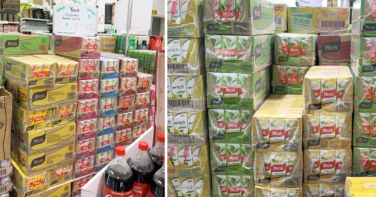 Yeo's drinks distributor having warehouse sale in Yishun, drinks from S$0.25 per packet