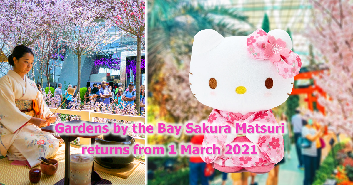 Gardens by the Bay brings back its annual Sakura Matsuri event with Hello Kitty from 1 March 2021