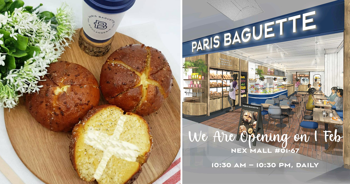 Paris Baguette NEX Opening Promotion, S$1 on selected soft bread range and more