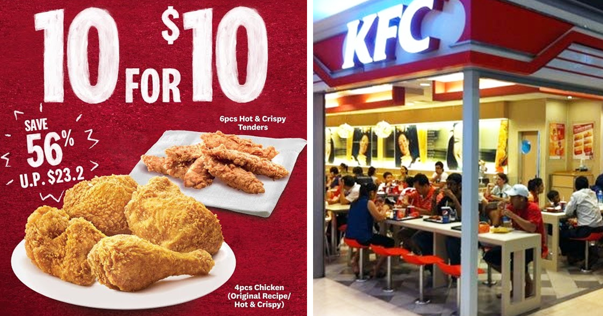 KFC brings back 4pcs chicken & 6pcs tenders for S$10 deal, for limited time only