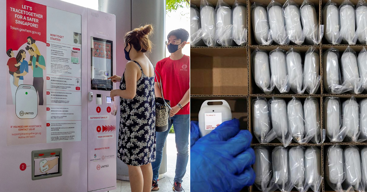 TraceTogether Token Vending Machines available at NEX and Sun Plaza to replace old & faulty units